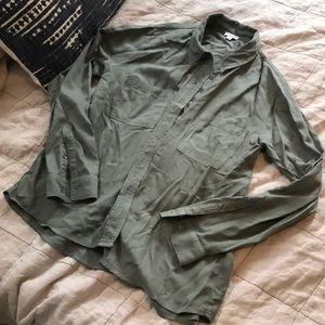 Silky sage green Splendid blouse Small